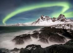 Beautiful image of an aurora taken January 6, 2016 in Alaska