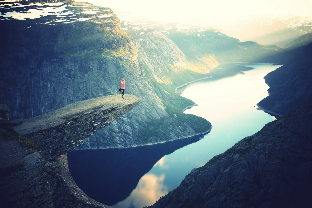 A fjord in Trolltunga, Norway. Inspiration.