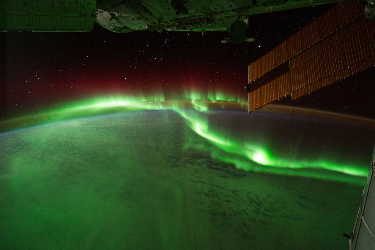 Sometimes the Nasa takes some beautiful images of aurora borealis from space. Magic.