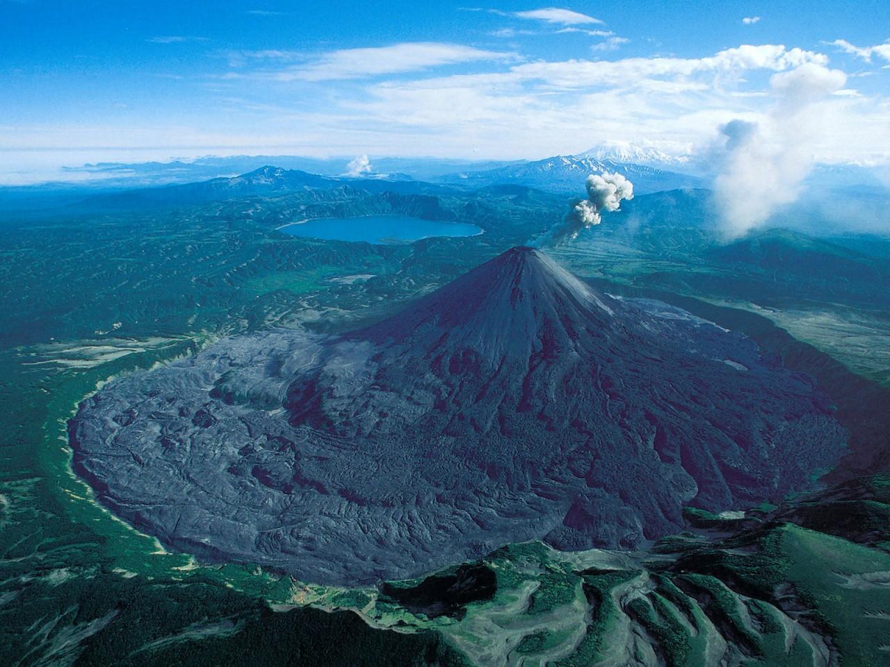 Karymsky volcano, Kamchatka, Russia. More info here: https://en.wikipedia.org/wiki/Karymsky_(vol ...