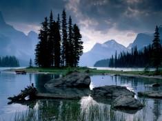 Spirit island, Jasper National Park, Alberta, Canada