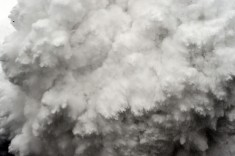 Avalanche in the Mount Everest