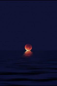 The Moon meeting the sea.