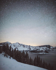 Crater Lake by night