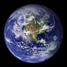 Western hemisphere satellite image