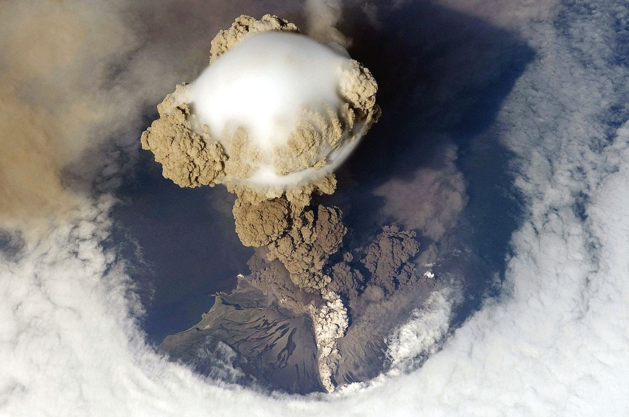 Sarychev volcano, Russia