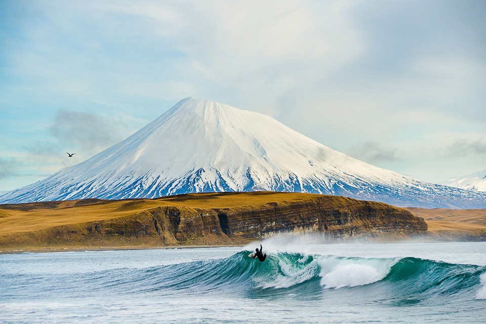 Surfing At Aleutian Islands Photo | One Big Photo