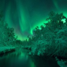 Northern light reflexion