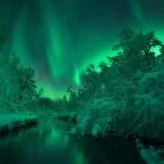 Northern light reflexion