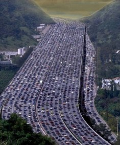 A river of cars