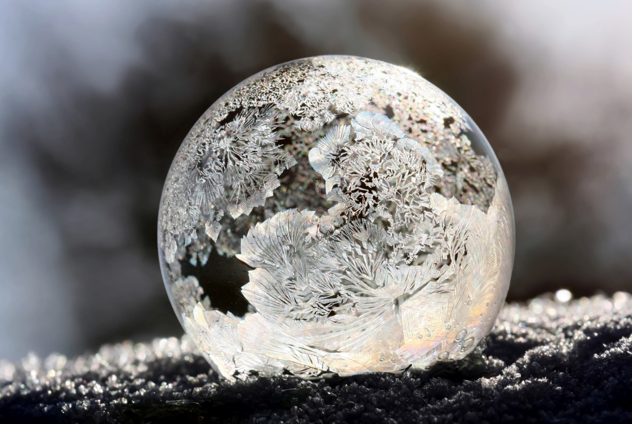 Frosted bubble