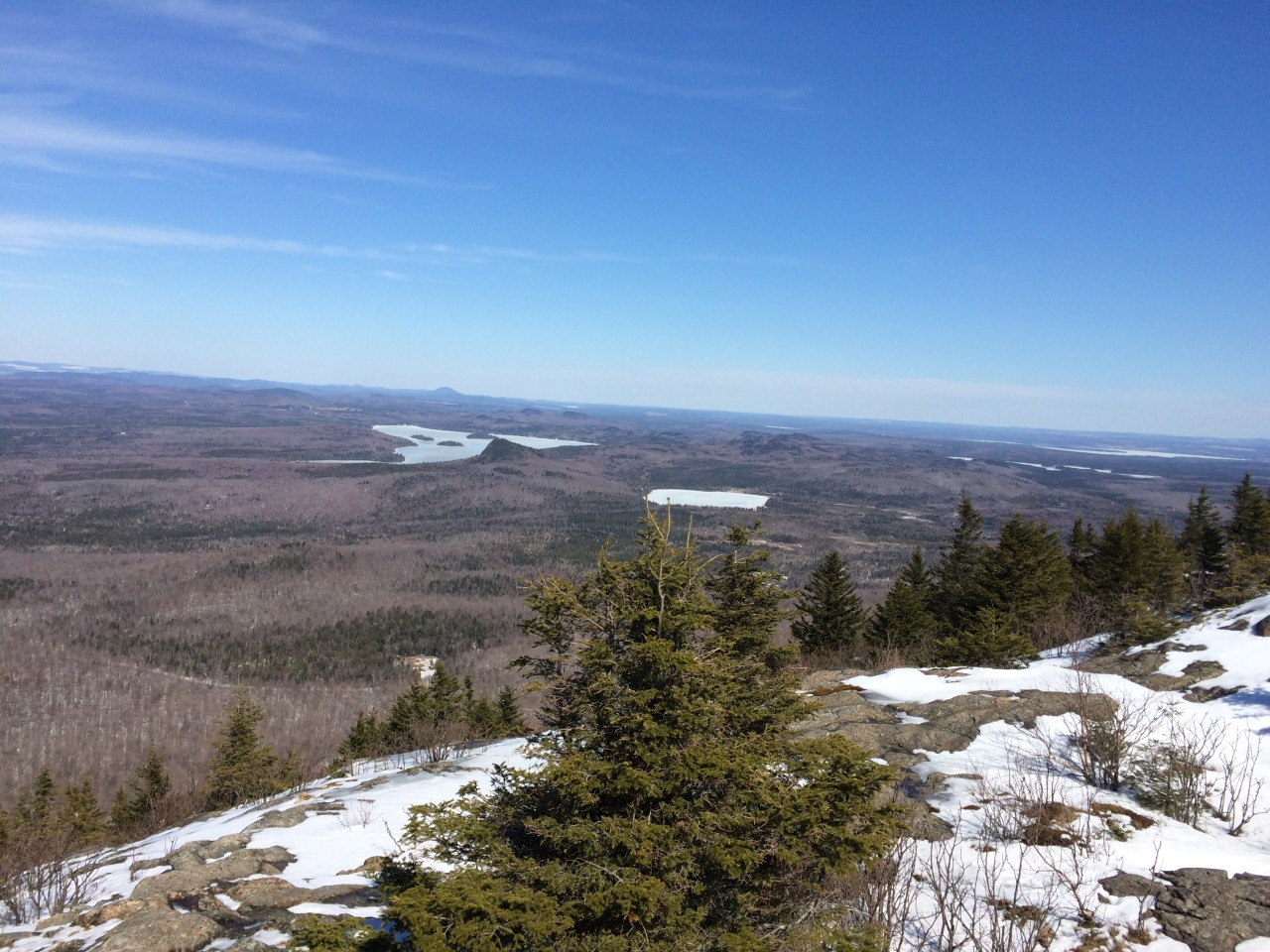 Top if the mountain, south of Quebec, Canada