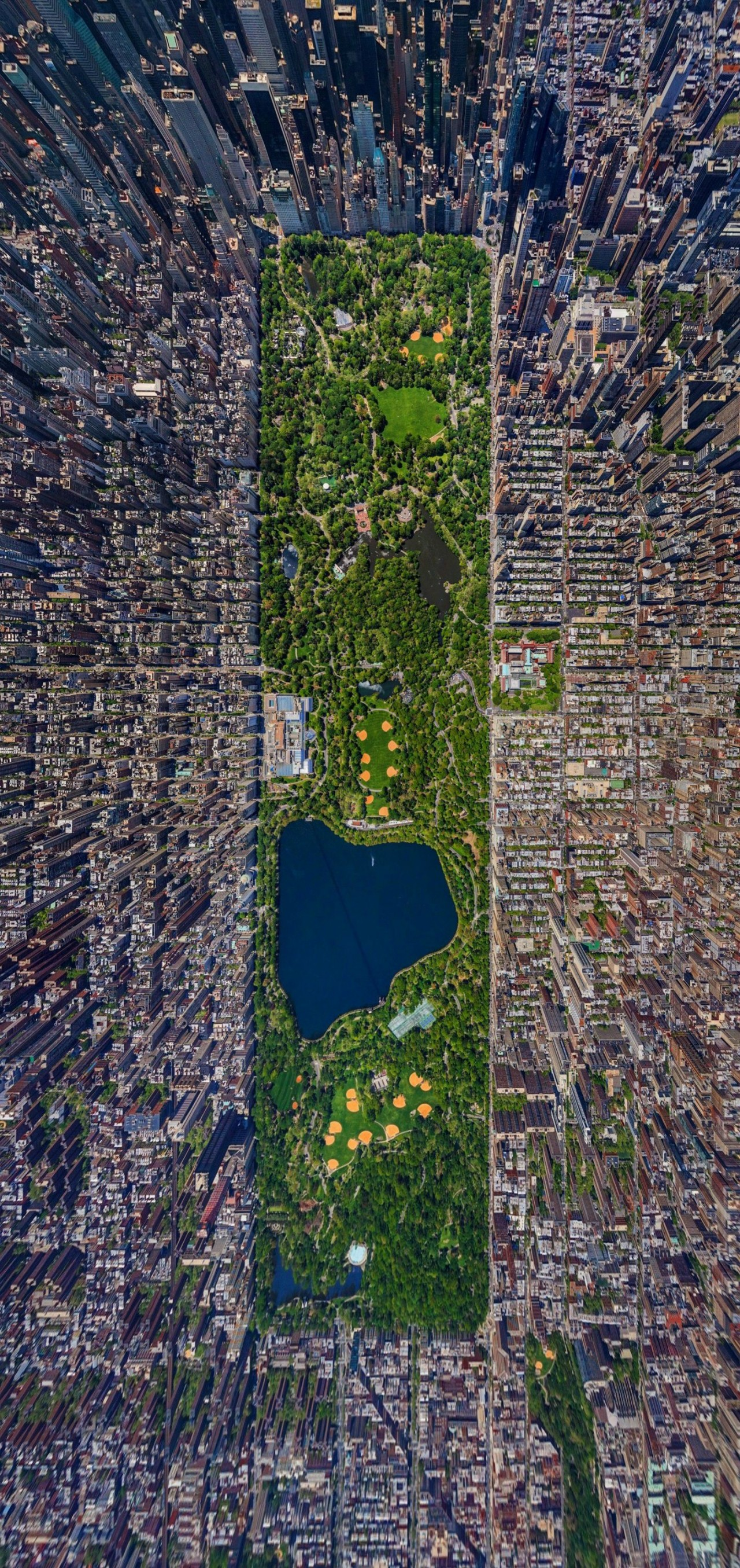 New York, Central Park, bird view