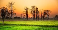 Sunset in the land, Pakistan.