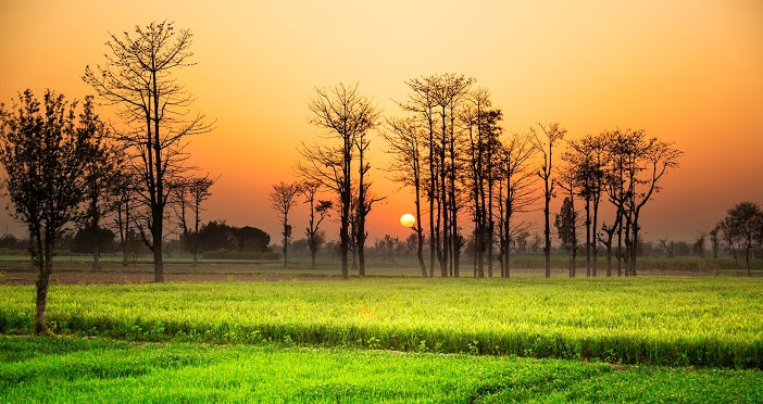 Sunset in the land, Pakistan.