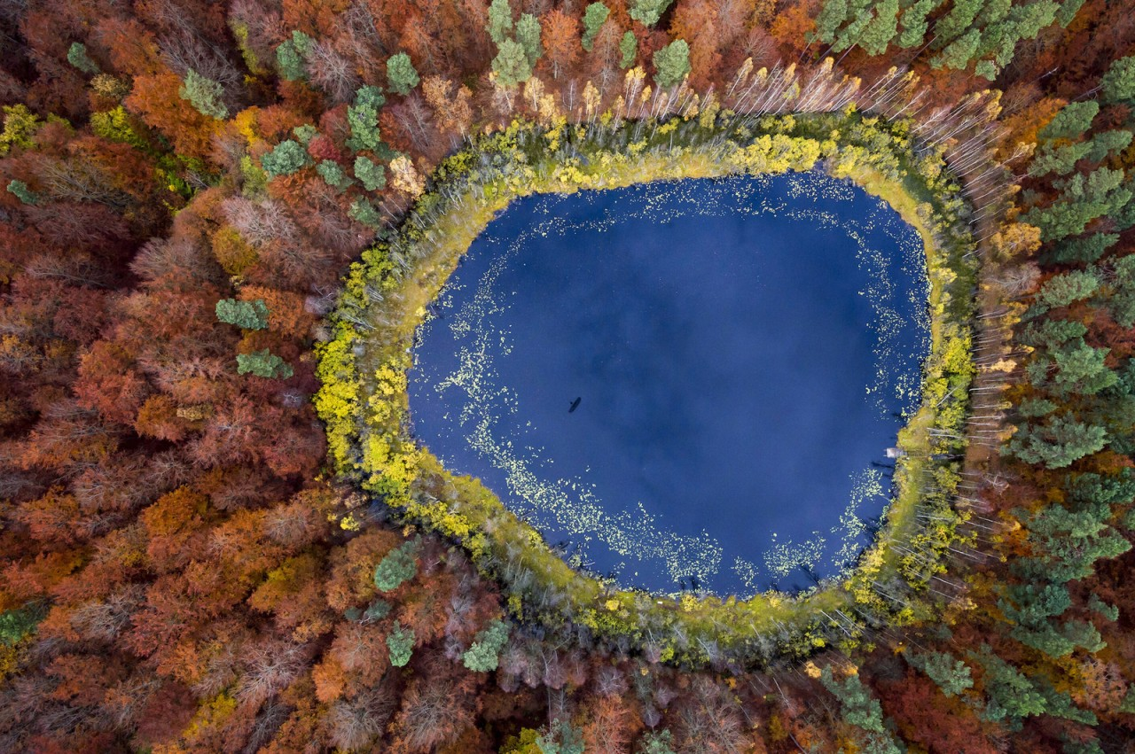 Lake in autumn, Pomerania, Poland