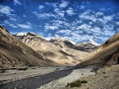 River from Baltoro glacier, Pakistan.