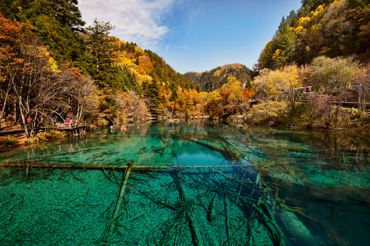 The Jiuzhaigou valley, National park Sichuan, China