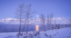 Timpanogos Winter Moonset : Wasatch Mountains, Utah