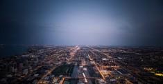 Chicago by night, USA