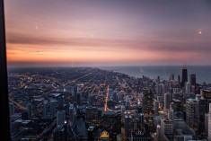 Chicago sunset from the top, USA