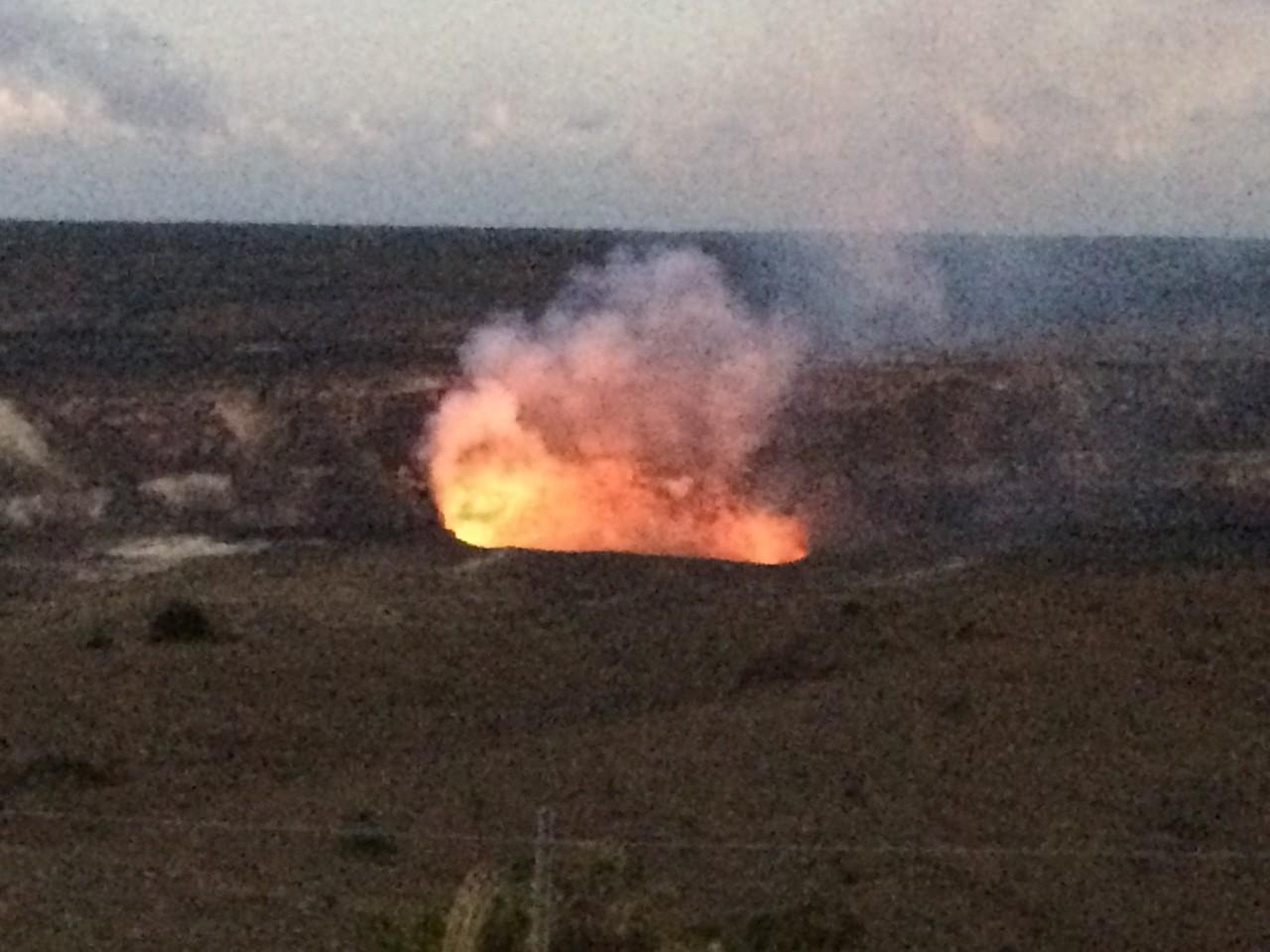Kilauea caldera and lava lake, Hawaii