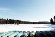 Frozen lake, Canada