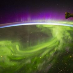 Northern lights viewed from the International Space Station