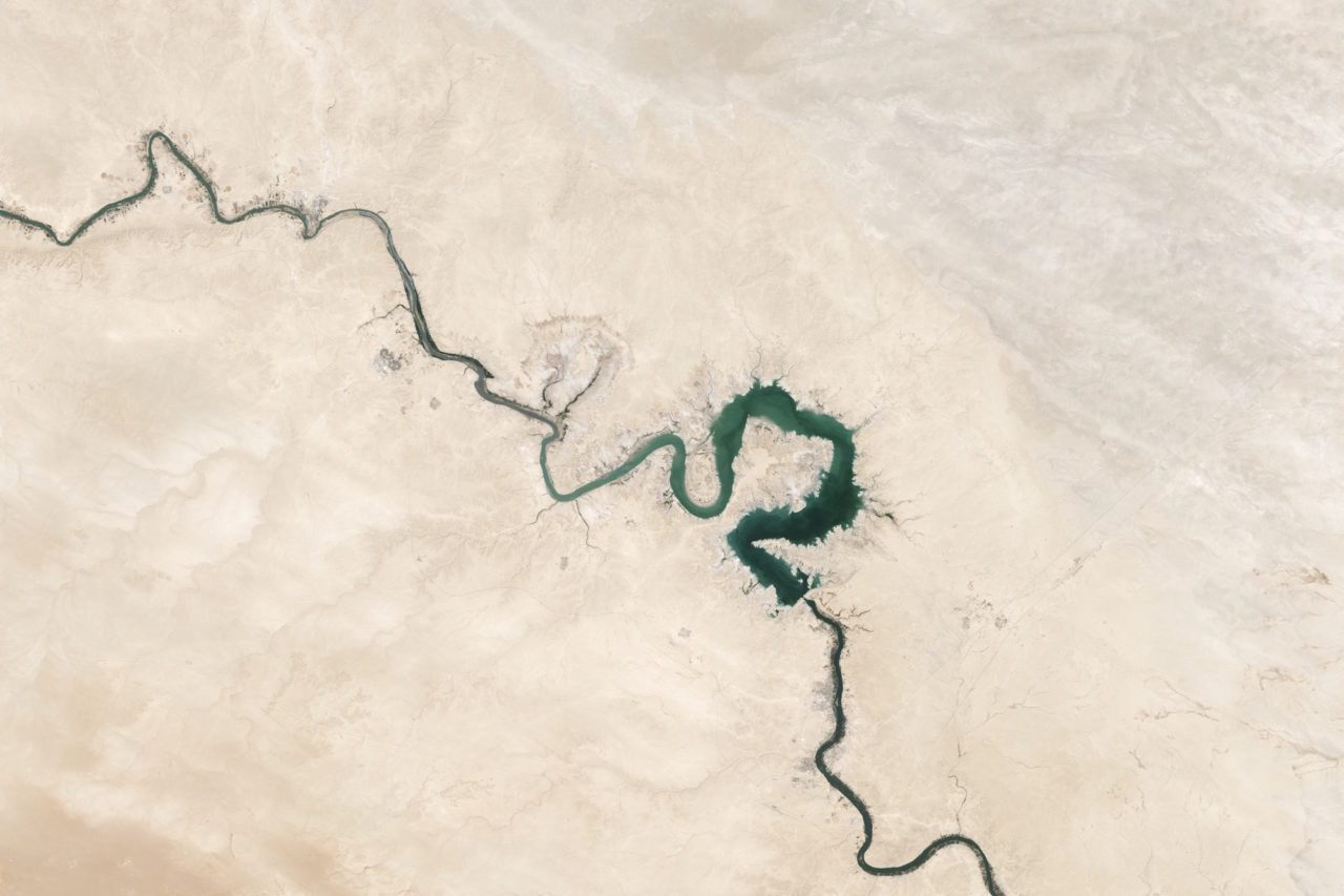 The desert view from space