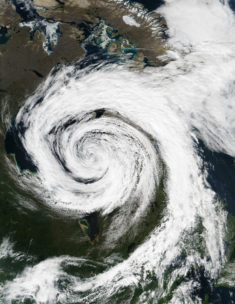 Canada – cyclone extratropical en baie d'Hudson (août 2016) • Carte • PopulationData.net