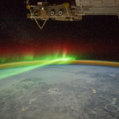 A northern light above Quebec, by Nasa