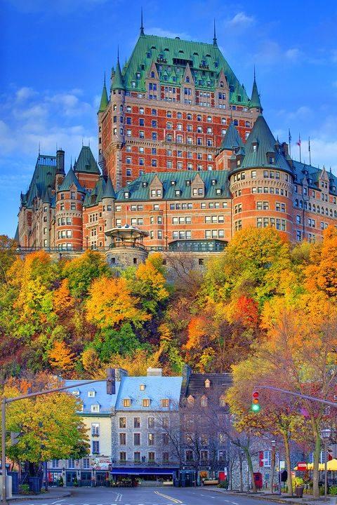 Frontenac castle hotel, Quebec city, Canada
