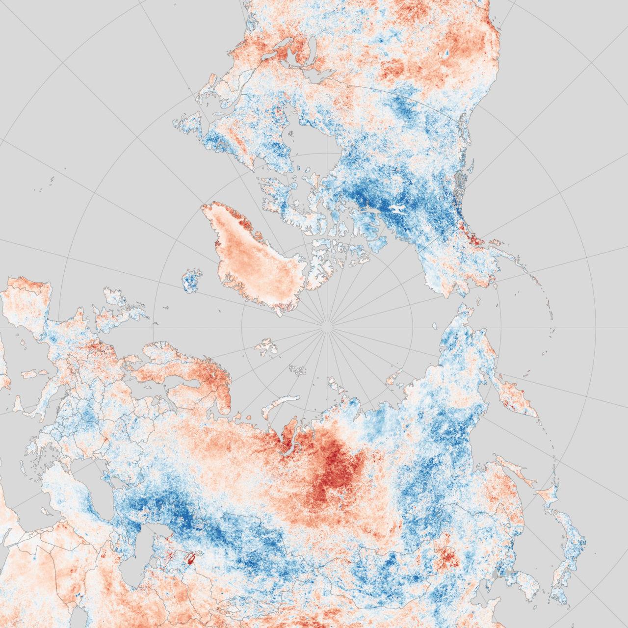 Vagues de chaleur dans l'Arctique • PopulationData.net