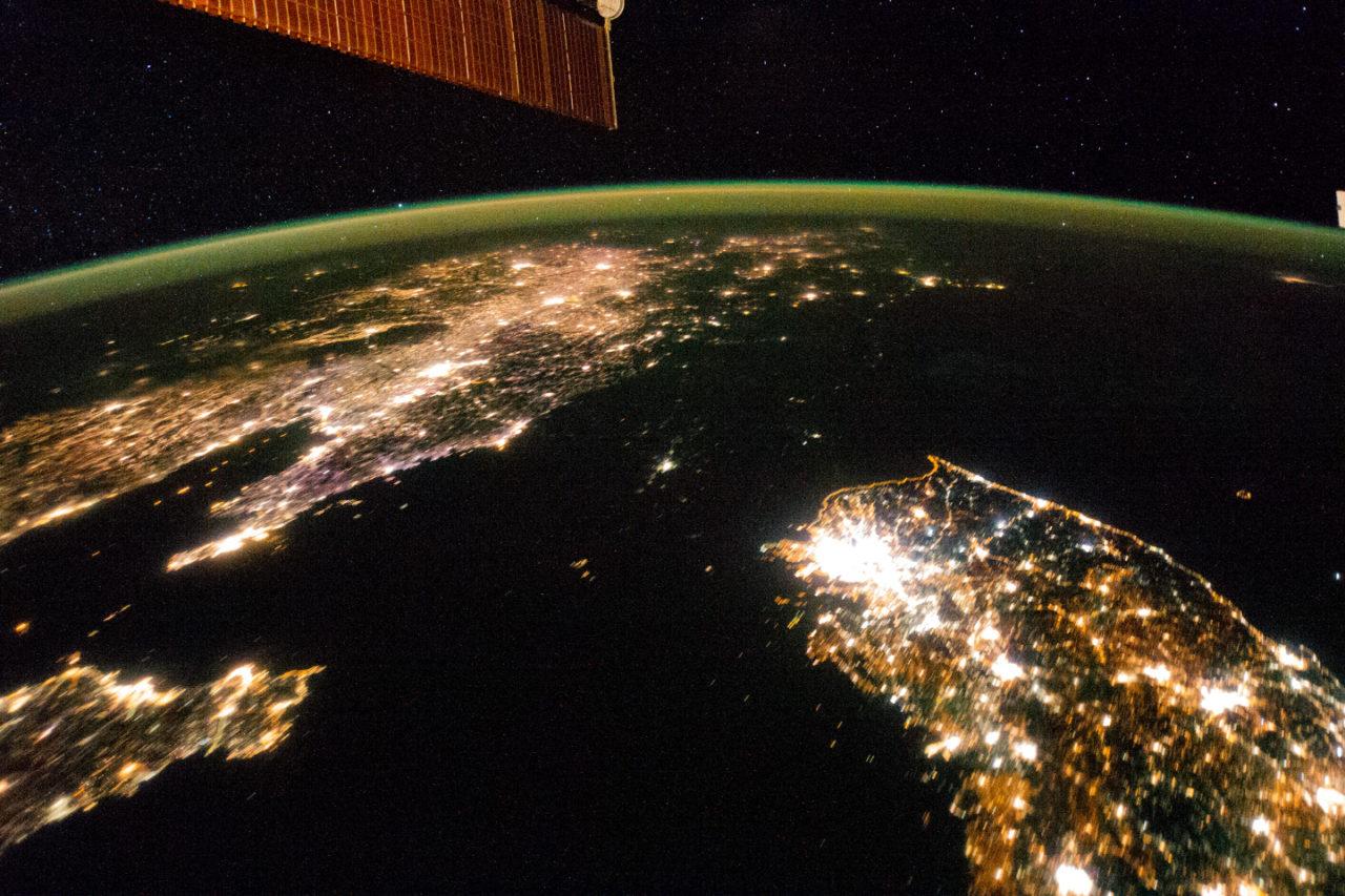 Corée du Nord – lumières de la nuit • Carte • PopulationData.net