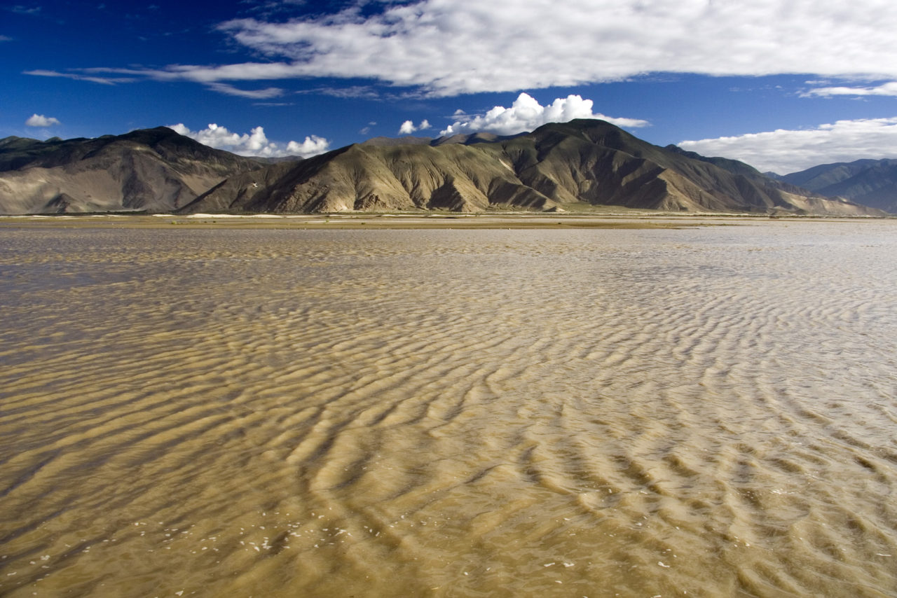 Yarlung Tsangpo river in Tibet. In India and Bangladesh becomes very wide and is called Brahmaputra.