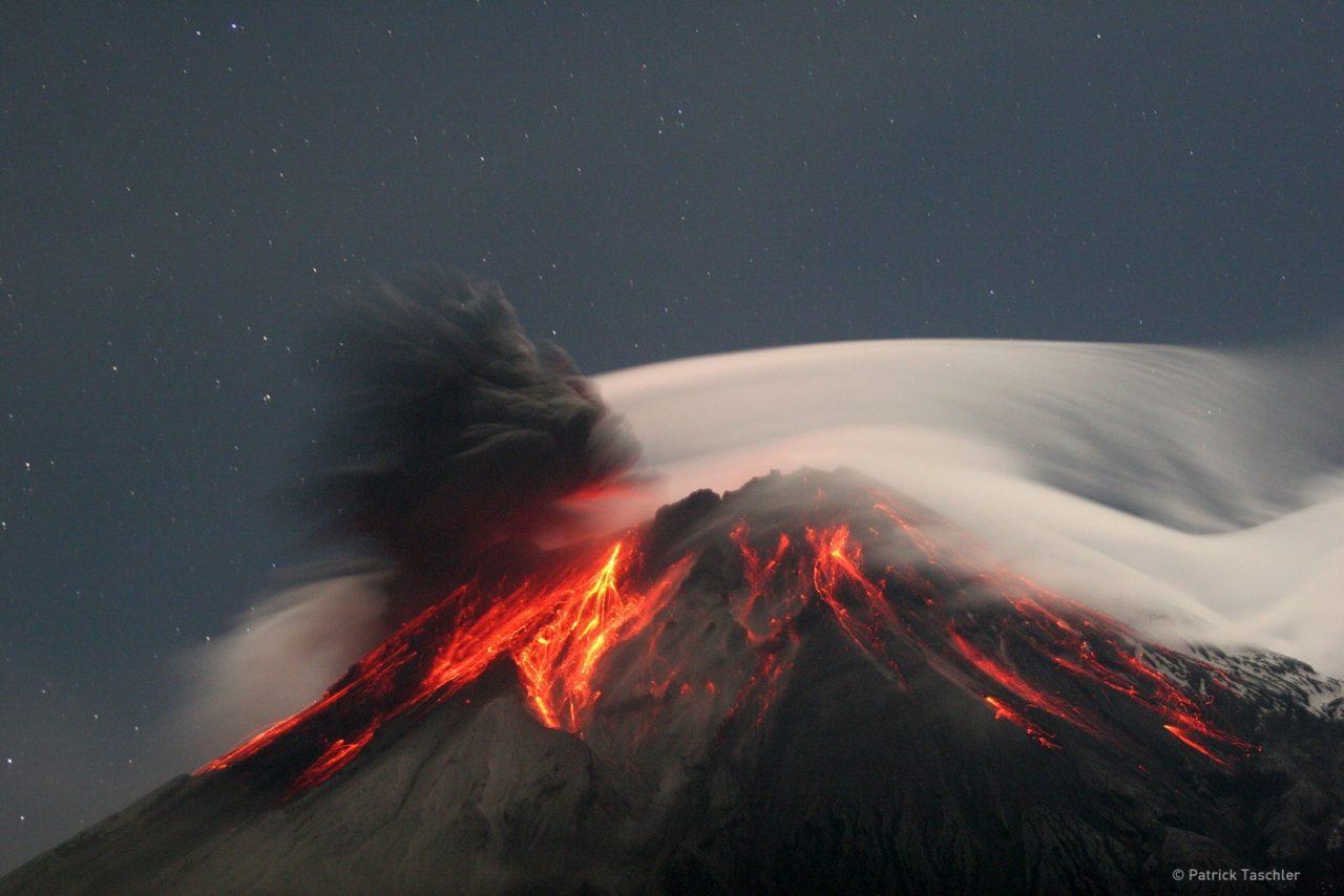 Volcano eruption, Ecuador