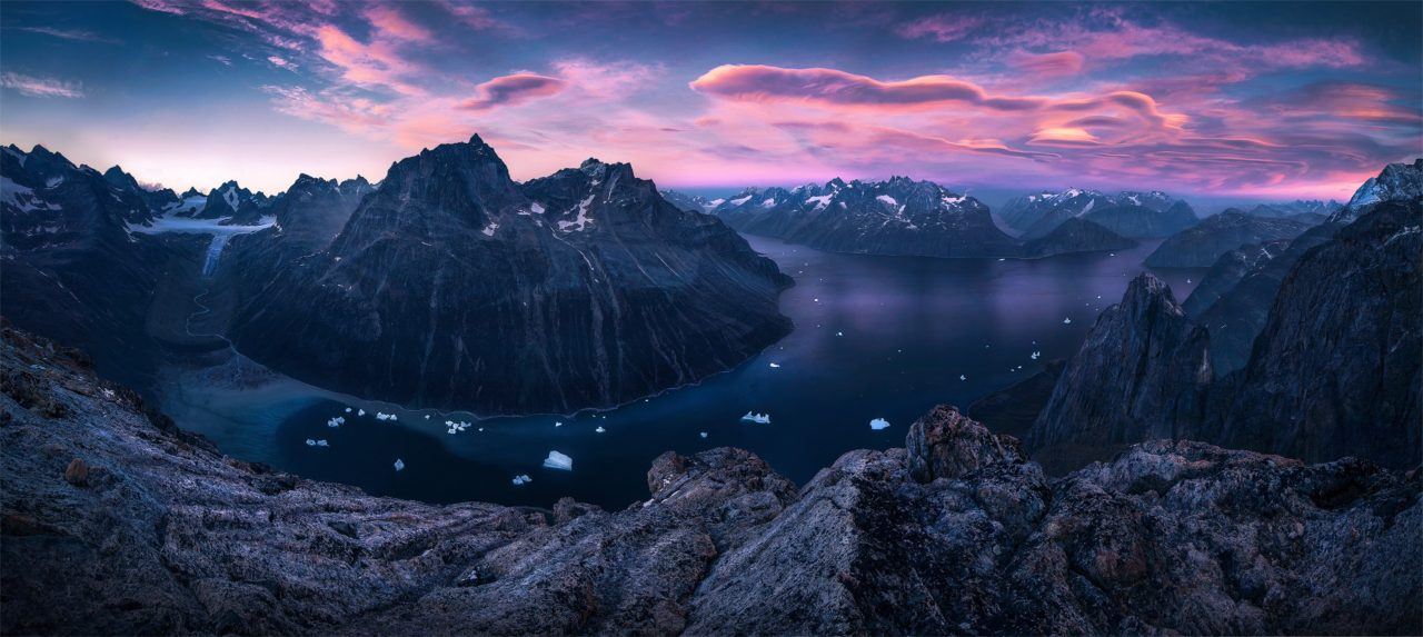 A fjord in Greenland