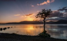 Loch Lomond sunset, Scotland