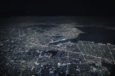 Mexico city by night from space
