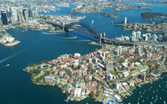 Sydney view from the air.