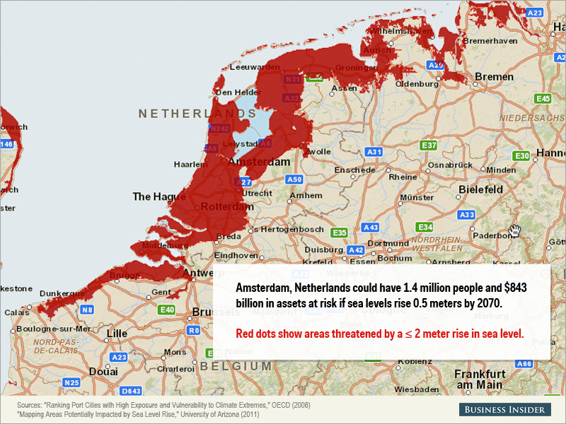 Montée des eaux : des dizaines de millions de personnes menacées • PopulationData.net