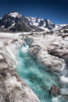 Mer de glace, Mont Blanc glacier, by Sebastien Papon
