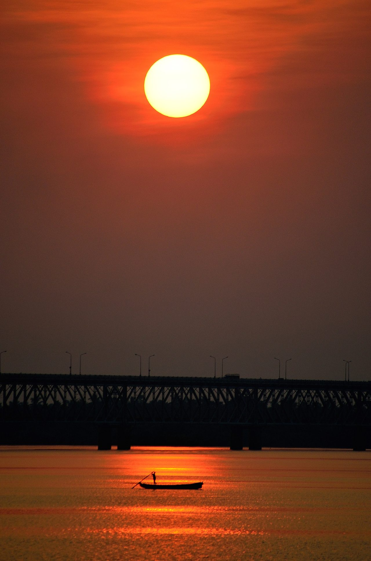 Rajahmundry bridge, Andhra Pradesh, India, by Kalyan Kumar