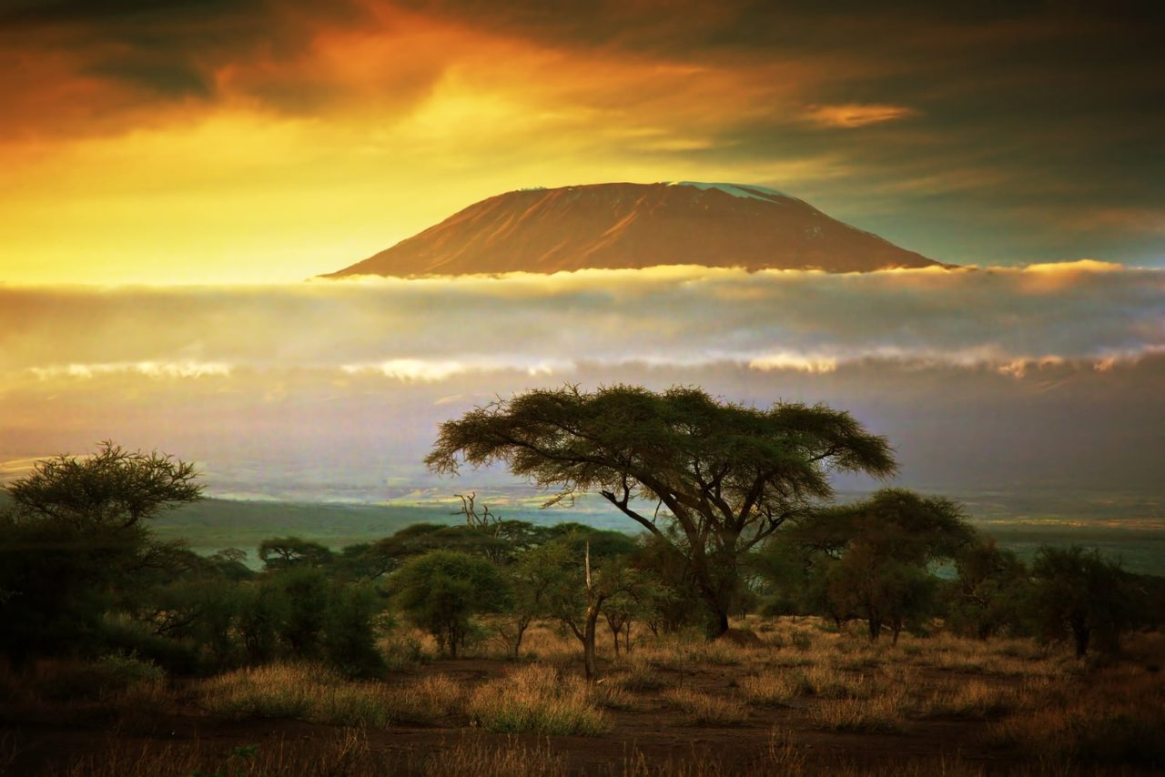 Sunset on the Mount Kilimanjaro