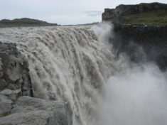 Dettifoss waterfall, the most powerful waterfall in Europe