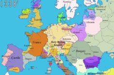 Géopolitique historique de l'Europe (1000-2000), en cartes