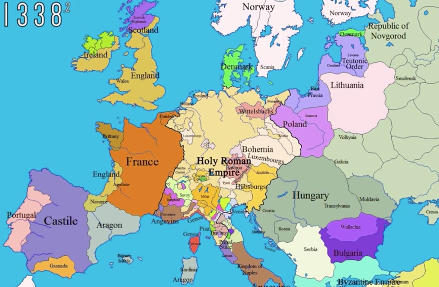 Carte Europe Zoom.Geopolitique Historique De L Europe 1000 2000 En Cartes