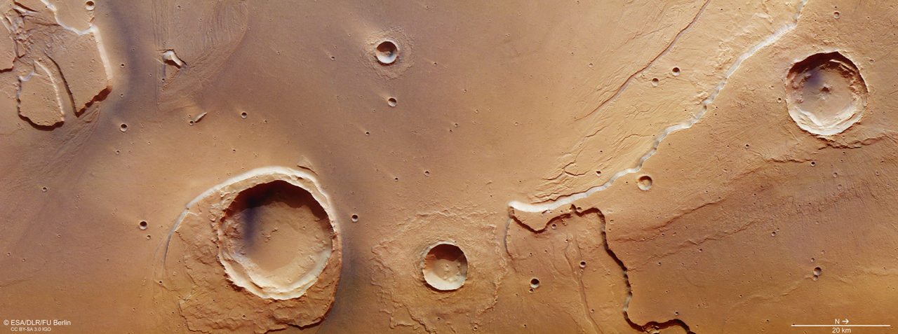 At the mouth of Kasei Valles, Mars