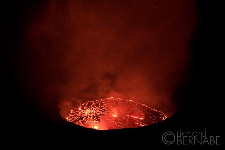 Mount Nyiragongo volcano