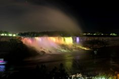 Niagara Falls by night, Canada